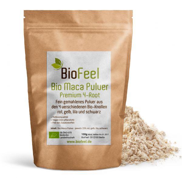 Bio Maca Premium 4-Root Pulver, 100g