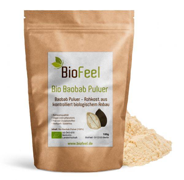 Bio Baobab Pulver, 100g